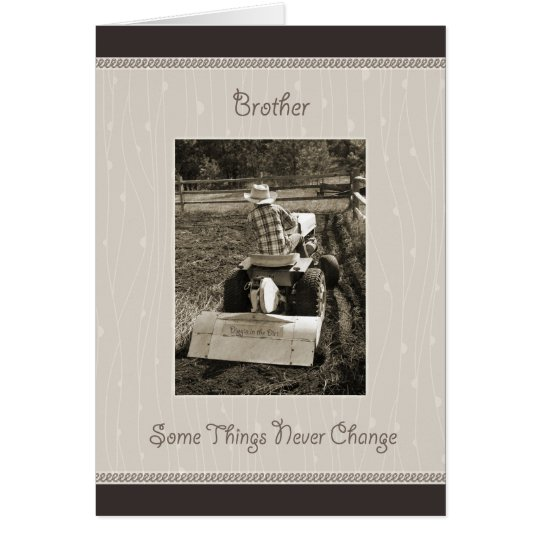 Brother Birthday Farm Boy Humour Card