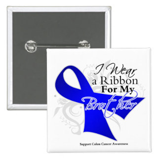Brother Blue Ribbon - Colon Cancer 15 Cm Square Badge