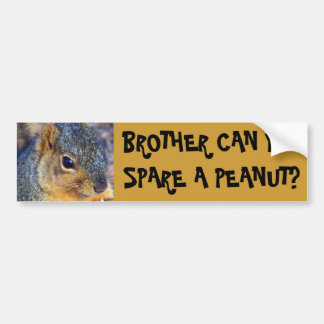BROTHER CAN YOU SPARE A PEANUT? BUMPER STICKER