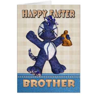 Brother Easter Card - Denim Dragon Chocolate