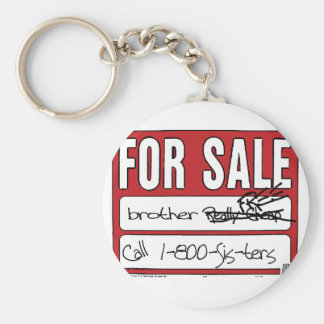 Brother For Sale Basic Round Button Key Ring