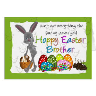Brother Fun Humorous Easter Greeting Card