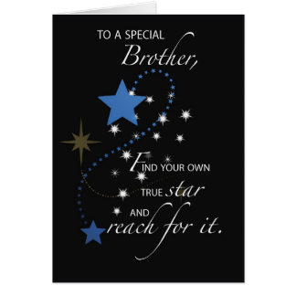 Brother Graduation Star Congratulations Cards