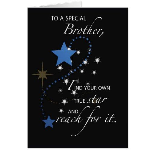 Brother Graduation Star Congratulations Cards