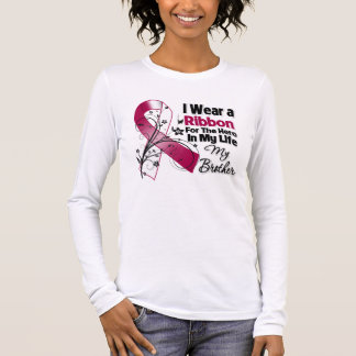 Brother Hero in My Life Head Neck Cancer Long Sleeve T-Shirt