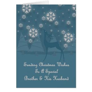 Brother & His Husband Reindeer Christmas Card