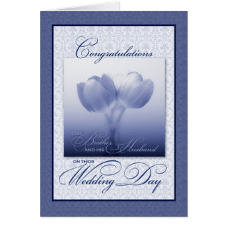 Brother & his New Husband Wedding Congratulations Greeting Card