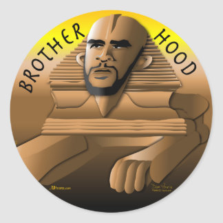 Brother Hood gold Sticker