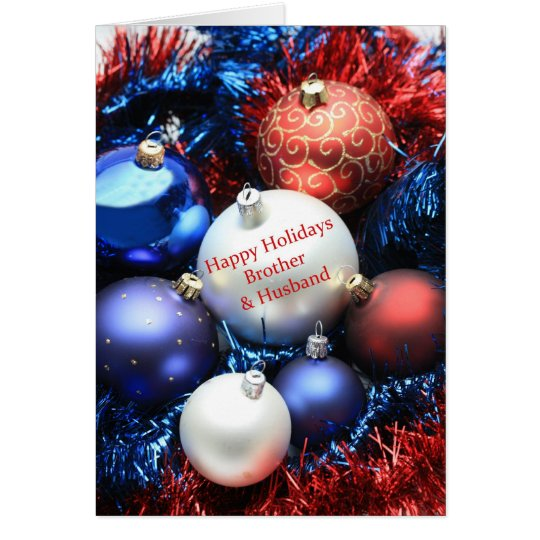 Brother & Husband  christmas ornaments card