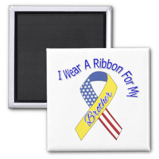 Brother - I Wear A Ribbon Military Patriotic Refrigerator Magnets