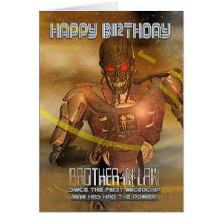 Brother-in-Law Birthday Card With Cyborg - Modern
