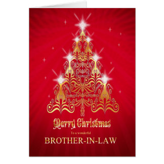 Brother-in-law Christmas tree Christmas card