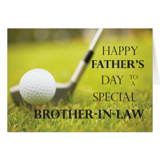 Brother-in-Law Father's Day Golf Ball in Grass Card