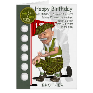 Brother-in-Law Golfer Birthday Greeting Card