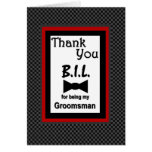 BROTHER-IN-LAW - Groomsman Wedding Thank You Greeting Cards