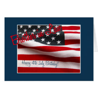 Brother in law Happy 4th July birthday Greeting Card