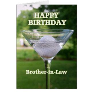Brother-in-Law Martini Golf Ball Birthday Card