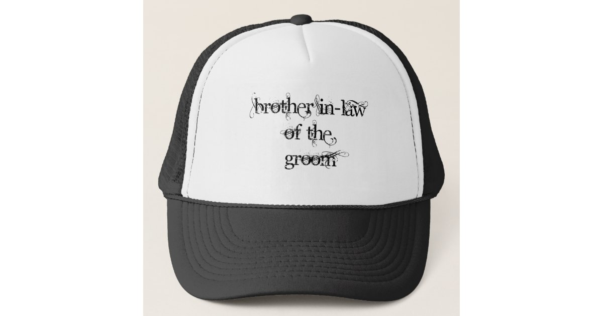 Brother In-Law of the Groom Trucker Hat  34a843379cca
