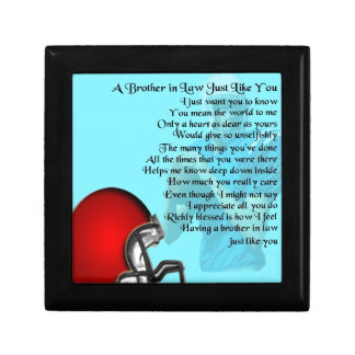 Brother in Law Poem - American Football Gift Box