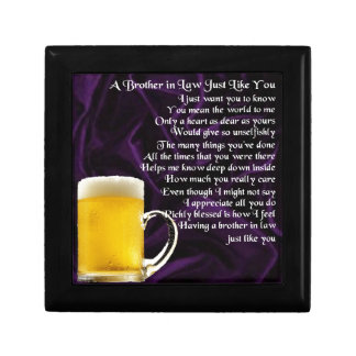Brother in Law Poem - Beer Design Gift Box
