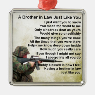 Brother in Law Poem - Soldier Design Christmas Ornament