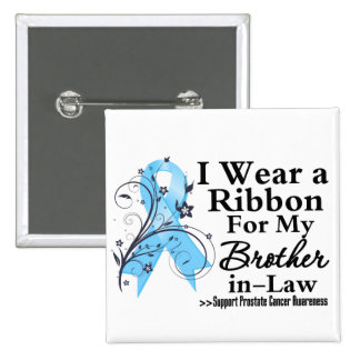 Brother-in-Law Prostate Cancer Ribbon 15 Cm Square Badge