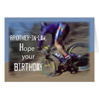 Brother-in-Law Sports Mountain Bike Birthday Greeting Card