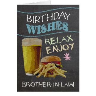 Brother-in-Law Trendy Chalk Board Effect Greeting Card