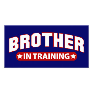 Brother In Training Photo Greeting Card