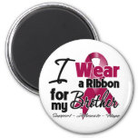 Brother - Multiple Myeloma Ribbon 6 Cm Round Magnet