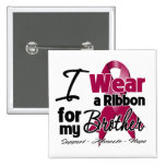 Brother - Multiple Myeloma Ribbon Pinback Button
