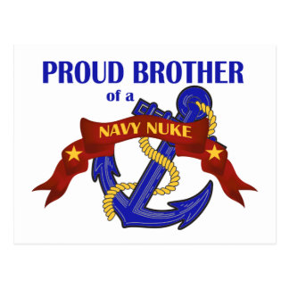 Brother of a Navy Nuke Postcard