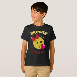 Brother of the Birthday Girl Emoji Birthday Party T-Shirt