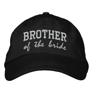 Brother of the Bride / Groom Embroidered Hats
