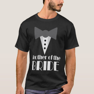 Brother of the Bride Mock Tuxedo Wedding T-shirt