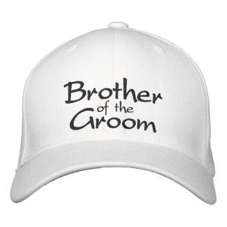 Brother of the Groom Embroidered Wedding Cap Embroidered Baseball Cap