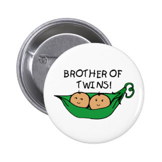 Brother of Twins Pod 6 Cm Round Badge