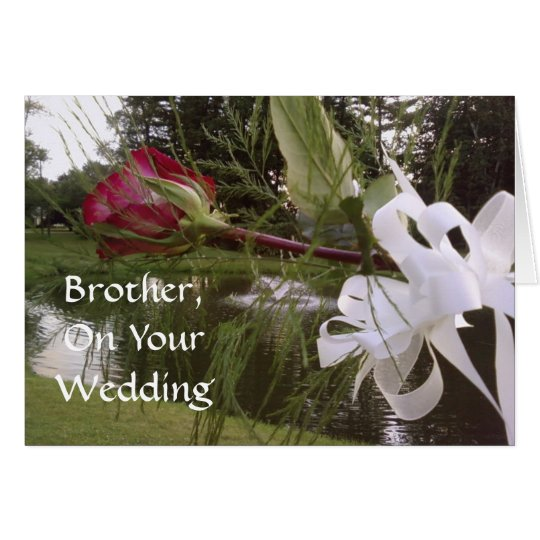 BROTHER, ON YOUR WEDDING CARD