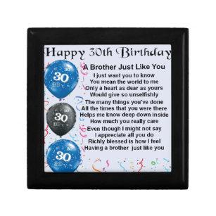 Brother Poem 30th Birthday Gift Box