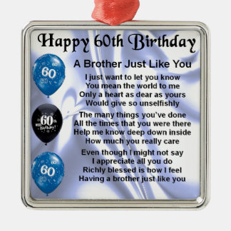 Brother poem 60th Birthday Christmas Ornament