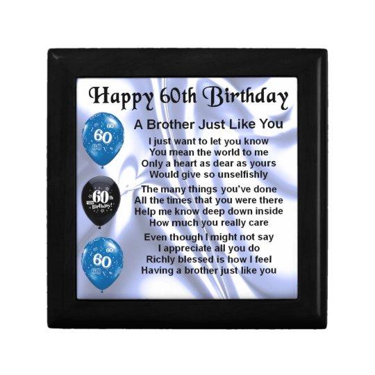 Brother poem 60th Birthday Gift Box