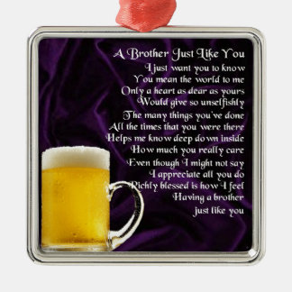 Brother Poem - Beer Christmas Ornament