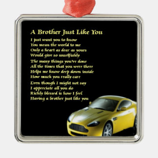 Brother poem Car Silver-Colored Square Decoration