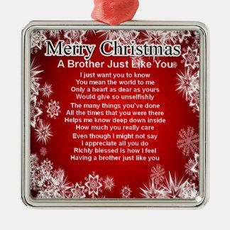 Brother Poem - Christmas Design Christmas Ornament