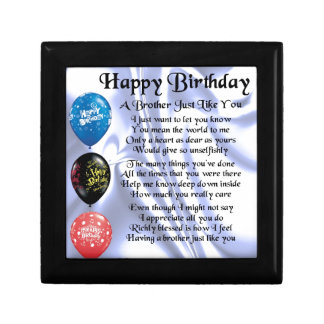 Brother Poem  Happy Birthday Gift Box