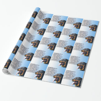 Brother Poem - Rottweiler Wrapping Paper