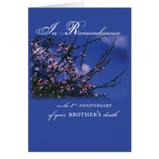 Brother, Remembrance 1st Anniversary Card