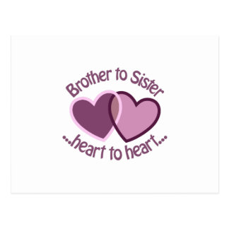 Brother To Sister Postcard