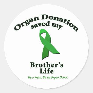 Brother Transplant Classic Round Sticker