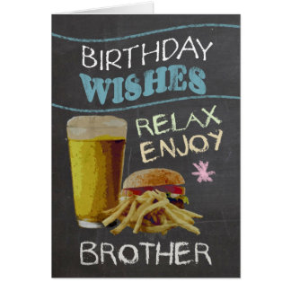 Brother Trendy Chalk Board Effect, With Beer Card